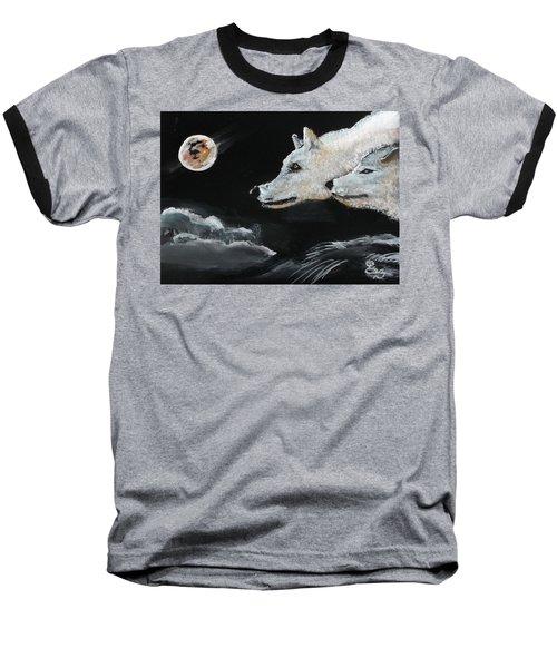 Full Moon Baseball T-Shirt by Carole Robins