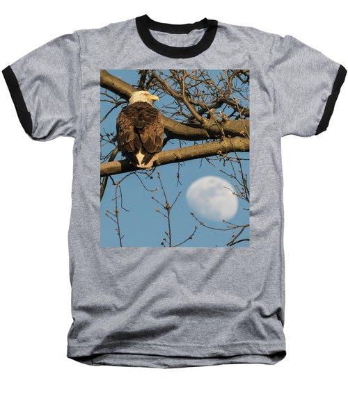 Full Moon Eagle  Baseball T-Shirt