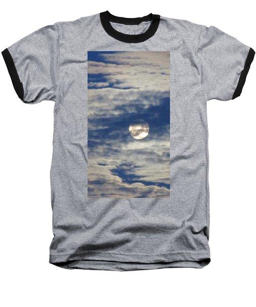 Full Moon In Gemini With Clouds Baseball T-Shirt