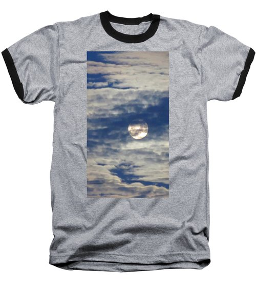 Full Moon In Gemini With Clouds Baseball T-Shirt