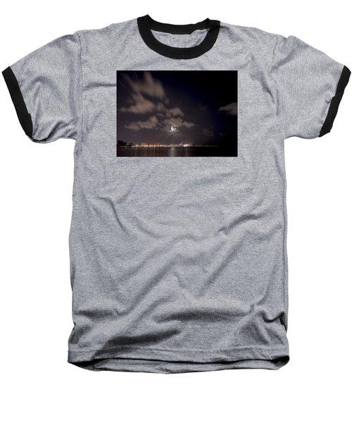 Full Moon In Miami Baseball T-Shirt