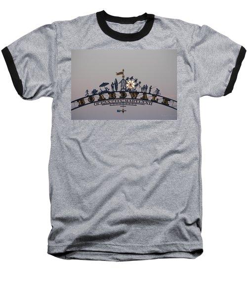 Full Moon In The Boardwalk Arch Ferris Wheel Baseball T-Shirt