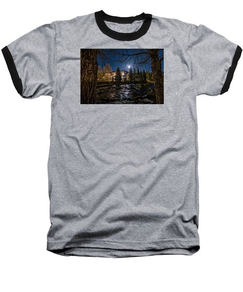 Full Moon Over Breckenridge Baseball T-Shirt