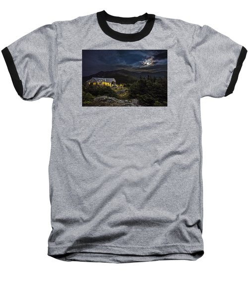 Full Moon Over Greenleaf Hut Baseball T-Shirt