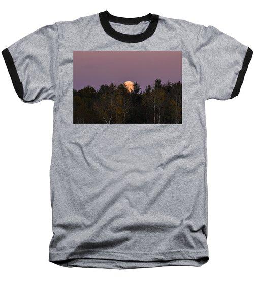 Full Moon Over Orchard Baseball T-Shirt
