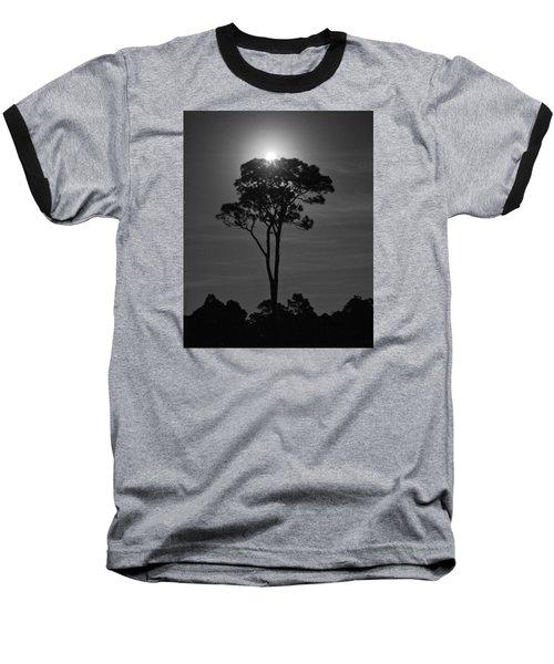 Full Moon Pearl  On Old Longleaf Pine Setting Baseball T-Shirt