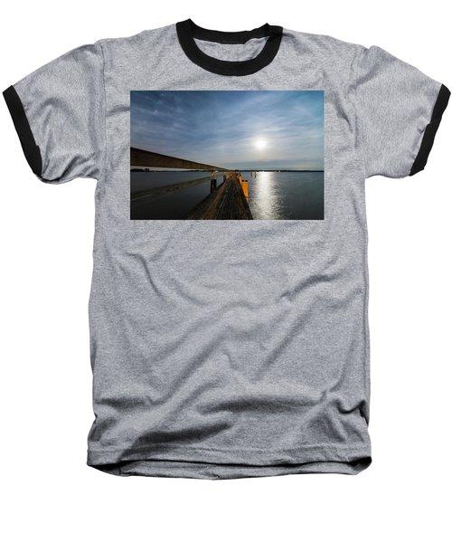 Full Moon Pier Baseball T-Shirt