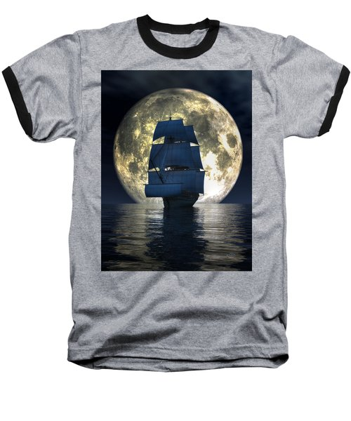 Full Moon Pirates Baseball T-Shirt