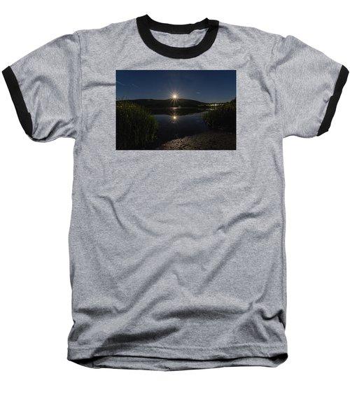 Baseball T-Shirt featuring the photograph Full Moon Retreat Meadows by Tom Singleton