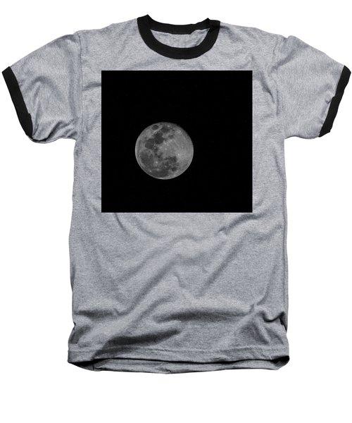 Full Moon Rising Baseball T-Shirt