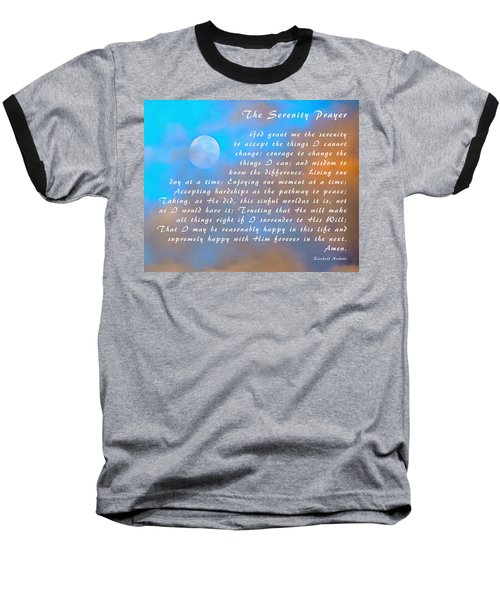 Baseball T-Shirt featuring the photograph Full Moon Serenity Prayer Digital by Floyd Snyder
