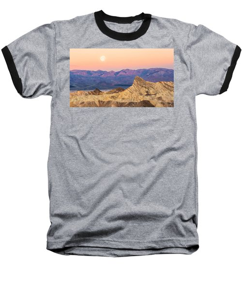 Full Moon Setting Baseball T-Shirt