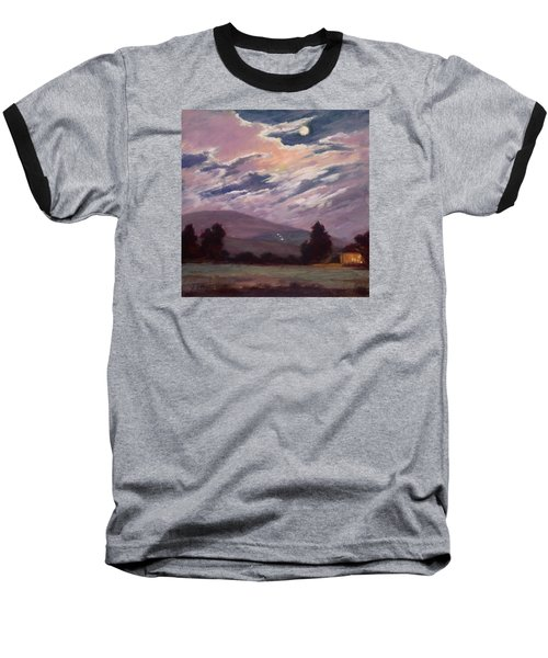Full Moon With Clouds Baseball T-Shirt by Jane Thorpe