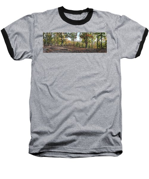 Full Panoramic View From The Summit Of Brown's Mountain Trail Baseball T-Shirt