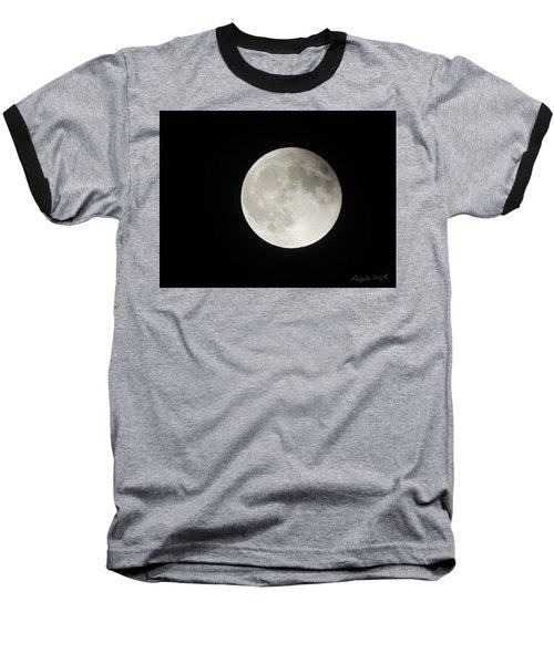 Full Planet Moon Baseball T-Shirt