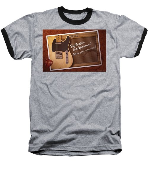 Baseball T-Shirt featuring the digital art Fullerton Postcard by WB Johnston
