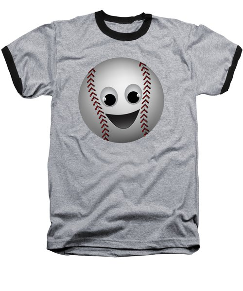Fun Baseball Character Baseball T-Shirt by MM Anderson