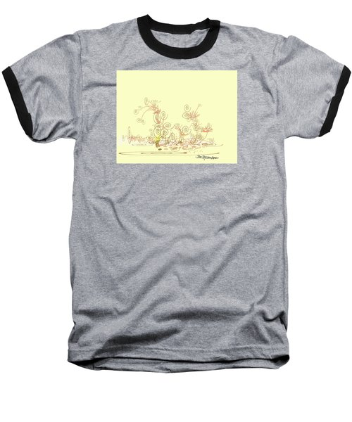 Baseball T-Shirt featuring the drawing Fun by Jim Hubbard