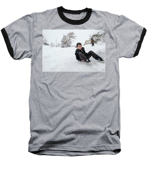 Fun On Snow-1 Baseball T-Shirt