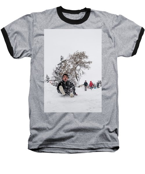 Fun On Snow-2 Baseball T-Shirt