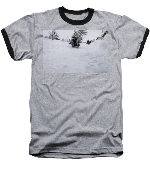 Fun On Snow-3 Baseball T-Shirt