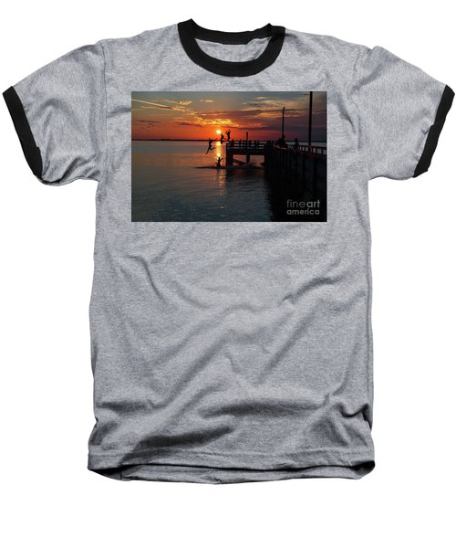 Fun On The Wharf Baseball T-Shirt by Jim  Hatch