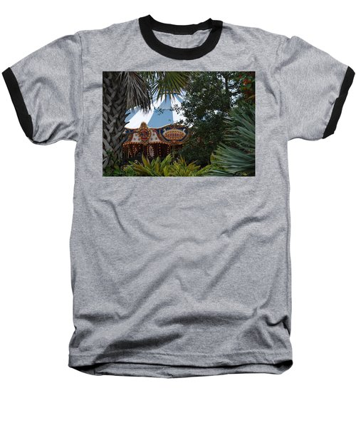 Baseball T-Shirt featuring the photograph Fun Thru The Trees by Rob Hans