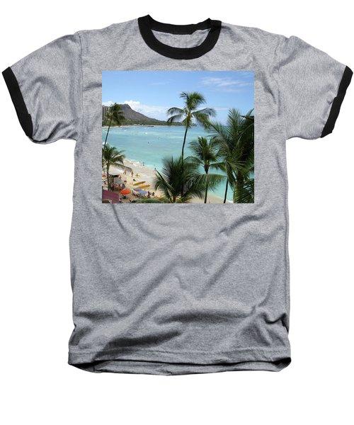 Fun Times On The Beach In Waikiki Baseball T-Shirt