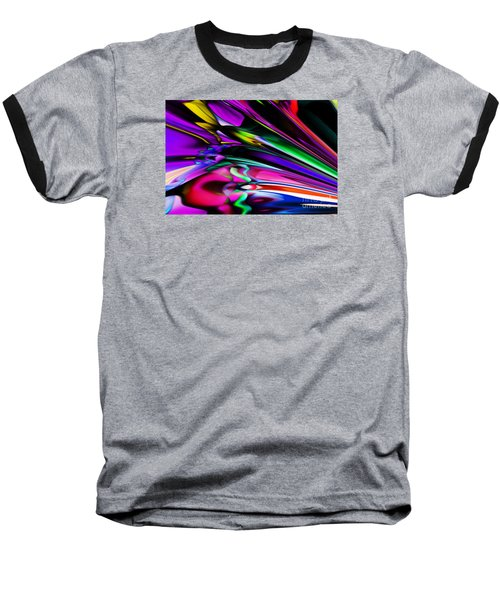 Fun With Colour Baseball T-Shirt by Elaine Hunter