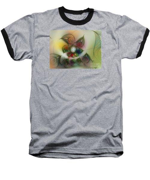 Baseball T-Shirt featuring the digital art Fun With Gardening by Karin Kuhlmann