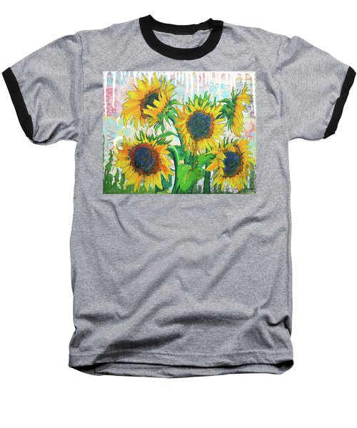 Funflowers Baseball T-Shirt