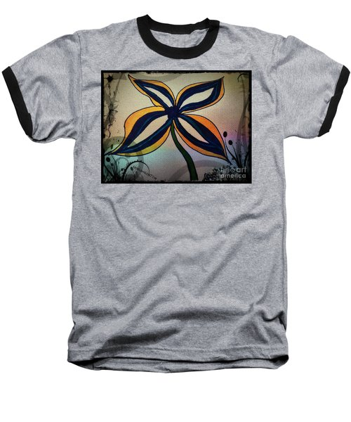 Funky Flower Baseball T-Shirt