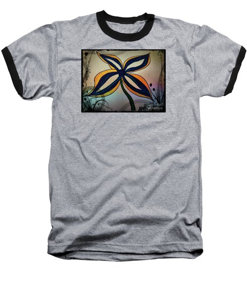 Funky Flower Baseball T-Shirt