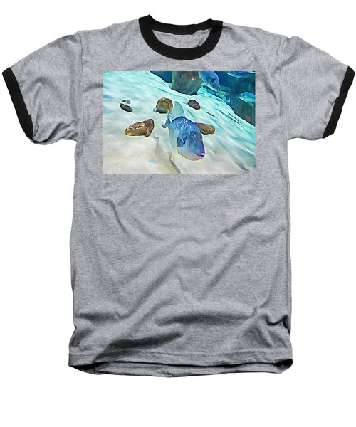 Funny Fish Baseball T-Shirt