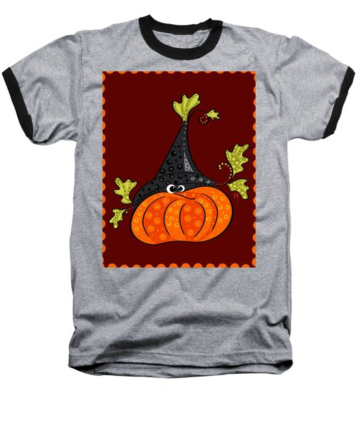 Baseball T-Shirt featuring the painting Funny Halloween by Veronica Minozzi