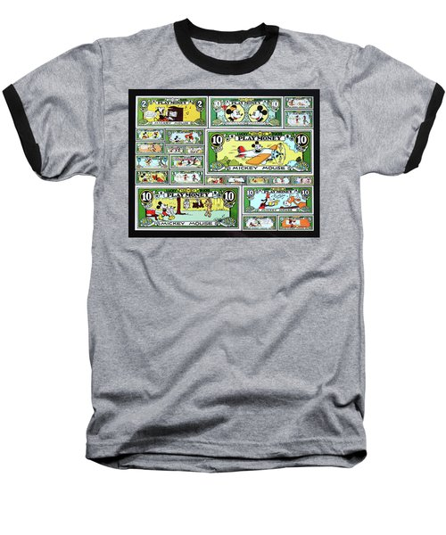 Baseball T-Shirt featuring the digital art Funny Money Collage by Joseph Hawkins