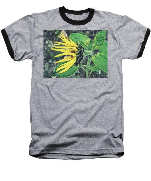 Funny Sunflower Baseball T-Shirt by Karen Stahlros