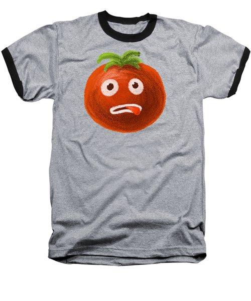 Funny Tomato Baseball T-Shirt by Boriana Giormova