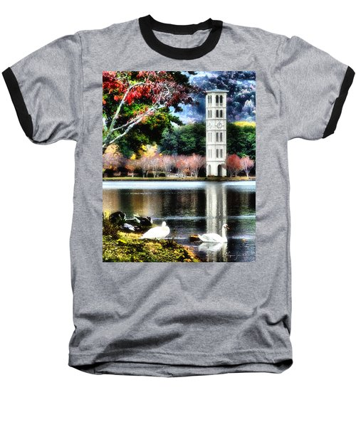 Furman University Bell Tower Baseball T-Shirt