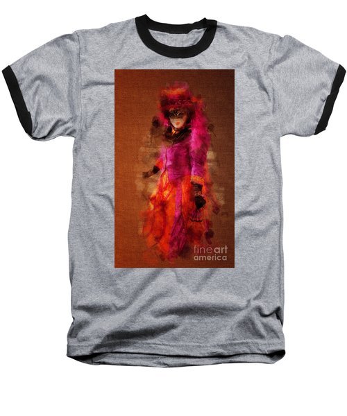 Fuschia Venice Baseball T-Shirt