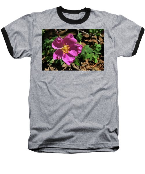 Baseball T-Shirt featuring the photograph Fuschsia Mountain Accent by Ron Cline