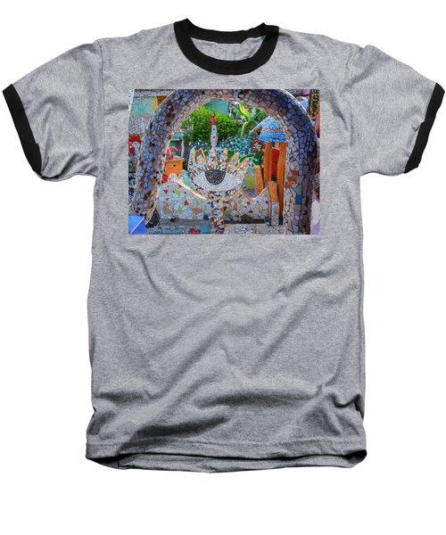 Baseball T-Shirt featuring the photograph Fusterlandia Havana Cuba by Joan Carroll