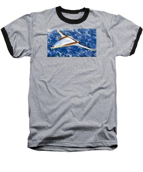 Baseball T-Shirt featuring the painting Future Flight by Mario Carini