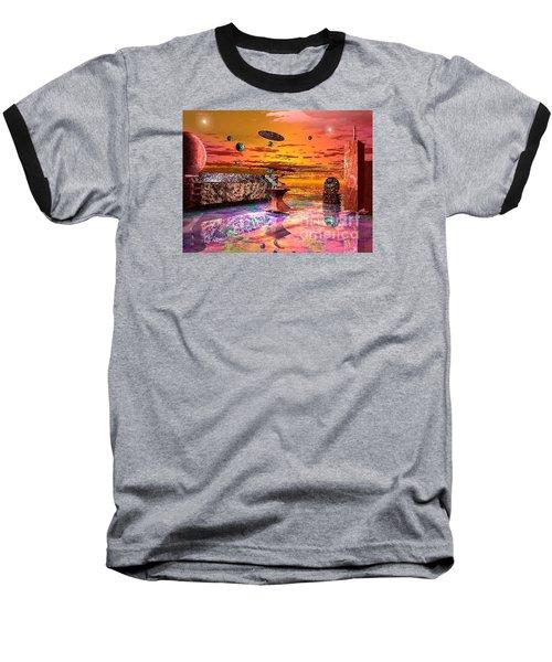 Future Horizions Firey Sunset Baseball T-Shirt by Jacqueline Lloyd