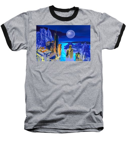 Futuristic City Baseball T-Shirt