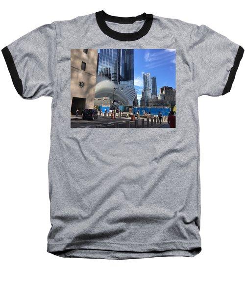 Futuristic City Baseball T-Shirt