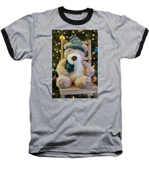 Fuzzy Bear Baseball T-Shirt by Vinnie Oakes