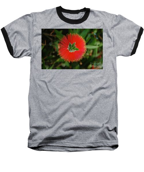 Fuzzy Flower Baseball T-Shirt