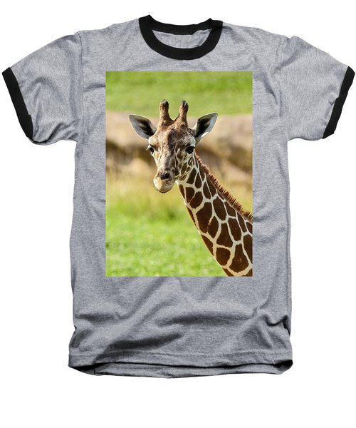 G Is For Giraffe Baseball T-Shirt by John Haldane
