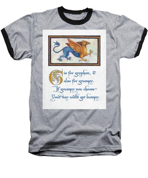 G Is For Gryphon Baseball T-Shirt